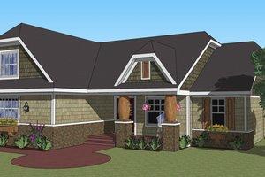 Craftsman Exterior - Front Elevation Plan #51-516