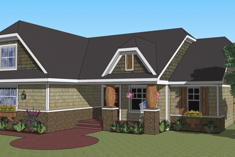 Dream House Plan - Craftsman Exterior - Front Elevation Plan #51-516