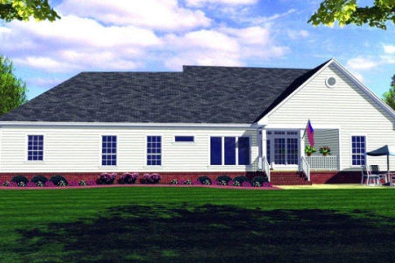 Farmhouse Exterior - Rear Elevation Plan #21-109 - Houseplans.com