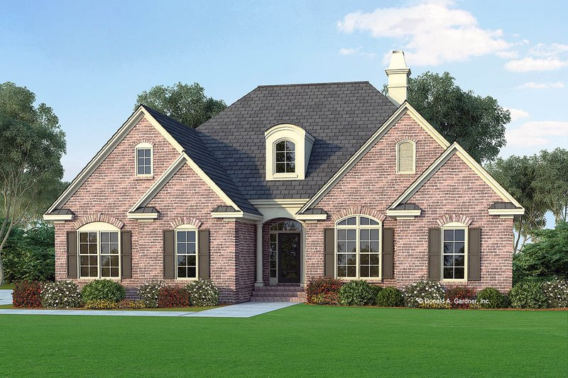 Architectural House Design - Traditional Exterior - Front Elevation Plan #929-325