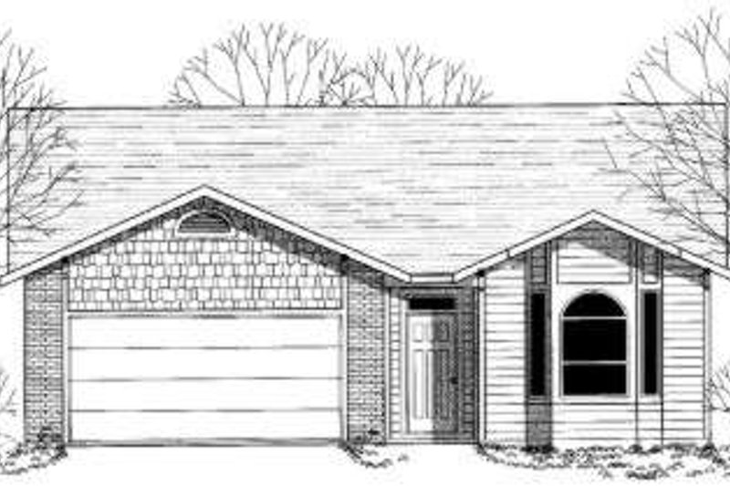 Traditional Style House Plan - 3 Beds 2 Baths 1583 Sq/Ft Plan #303-335 Exterior - Front Elevation