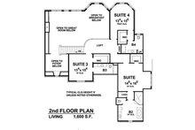 European Floor Plan - Upper Floor Plan Plan #20-2388