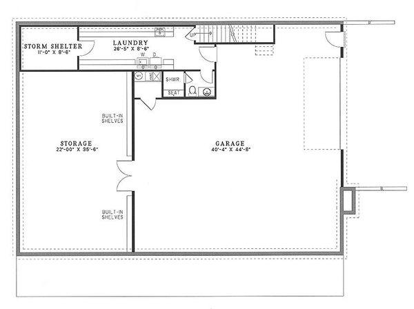 Country Floor Plan - Lower Floor Plan Plan #17-2036
