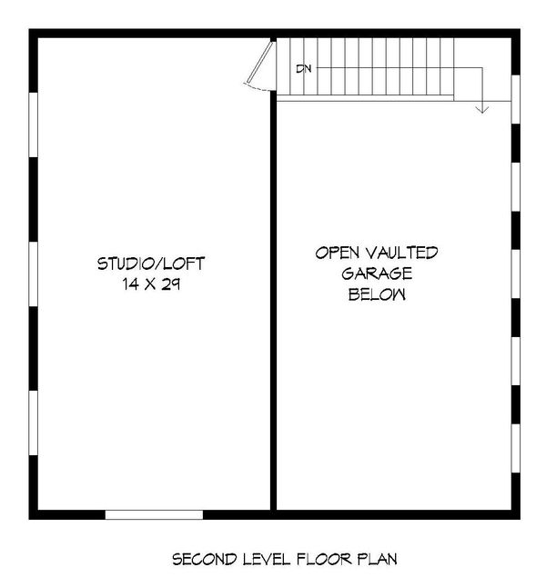Contemporary Floor Plan - Upper Floor Plan #932-32