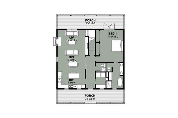 Dream House Plan - Farmhouse Floor Plan - Main Floor Plan #497-6