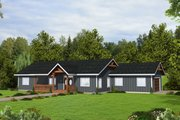 Craftsman Style House Plan - 3 Beds 2 Baths 2040 Sq/Ft Plan #117-911 Exterior - Front Elevation