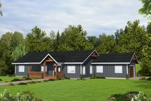 Architectural House Design - Craftsman Exterior - Front Elevation Plan #117-911
