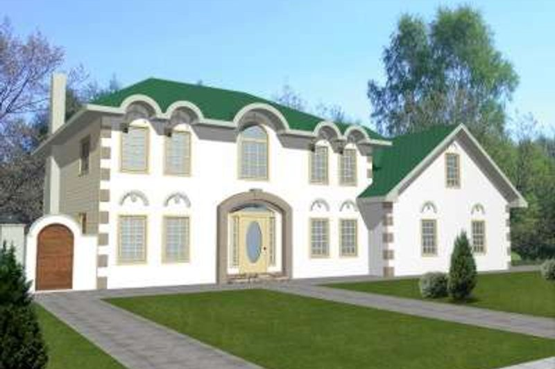 Traditional Exterior - Front Elevation Plan #117-342 - Houseplans.com