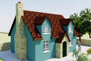 Tudor Style House Plan - 2 Beds 1 Baths 566 Sq/Ft Plan #542-7 Exterior - Front Elevation