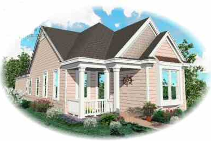 Cottage Style House Plan - 2 Beds 2 Baths 1206 Sq/Ft Plan #81-160 Exterior - Front Elevation
