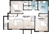 Country Style House Plan - 3 Beds 2 Baths 2134 Sq/Ft Plan #23-2685 Floor Plan - Lower Floor