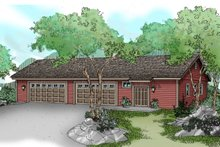 Dream House Plan - Traditional Exterior - Front Elevation Plan #124-791