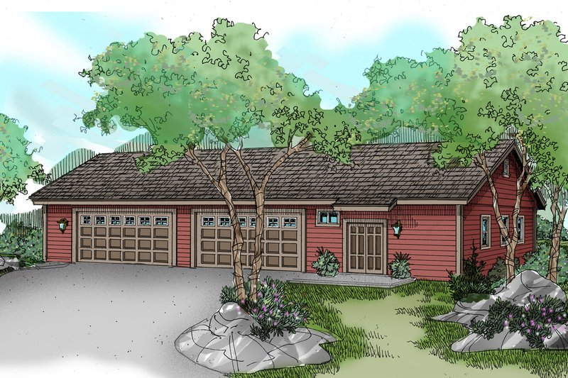 Traditional Style House Plan - 0 Beds 1 Baths 3200 Sq/Ft Plan #124-791 Exterior - Front Elevation
