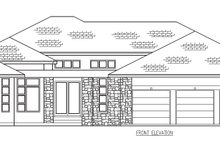 Contemporary Exterior - Other Elevation Plan #56-601