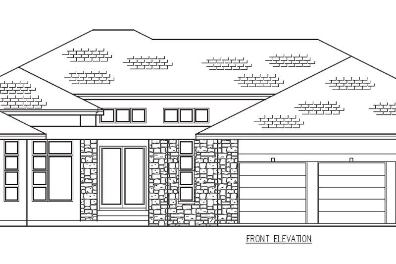 Contemporary Exterior - Other Elevation Plan #56-601 - Houseplans.com