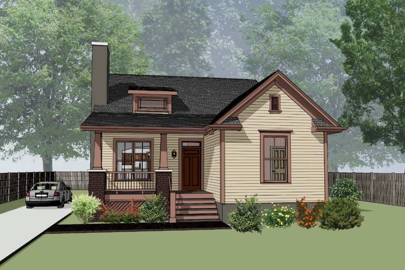 Home Plan - Craftsman Exterior - Front Elevation Plan #79-269