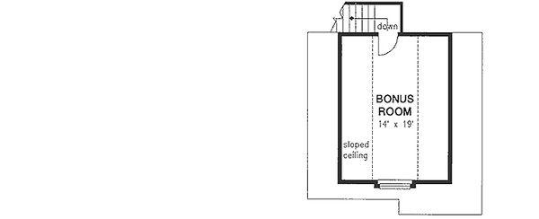 Craftsman Floor Plan - Upper Floor Plan Plan #18-4503