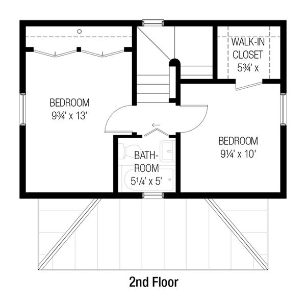 Cottage Floor Plan - Upper Floor Plan Plan #915-13