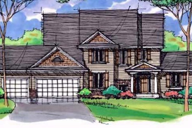Traditional Exterior - Front Elevation Plan #51-403 - Houseplans.com