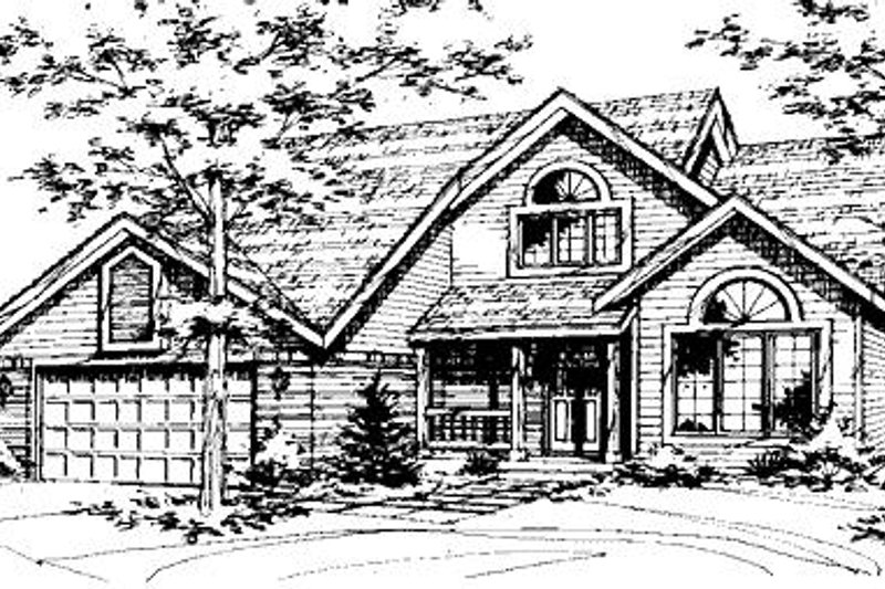 Country Exterior - Front Elevation Plan #320-426