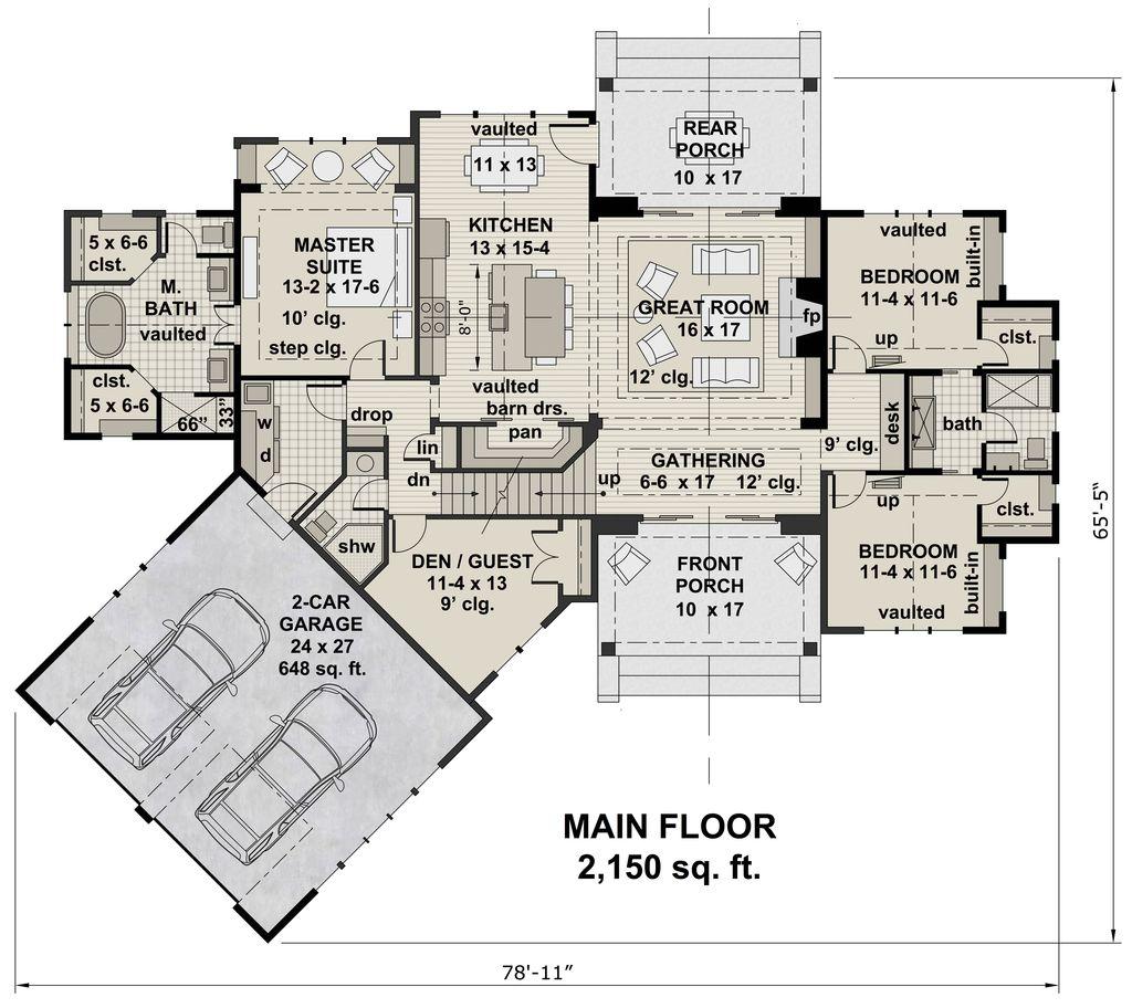 4 bedroom house plan drawing