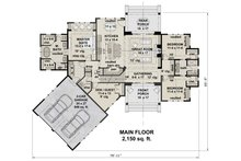 Farmhouse Floor Plan - Main Floor Plan Plan #51-1135