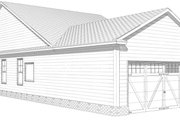 Craftsman Style House Plan - 2 Beds 2 Baths 1302 Sq/Ft Plan #63-273 Exterior - Other Elevation