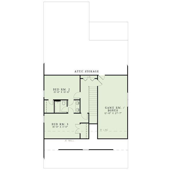 Bungalow Floor Plan - Upper Floor Plan #17-2407