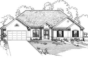 European Exterior - Front Elevation Plan #31-114