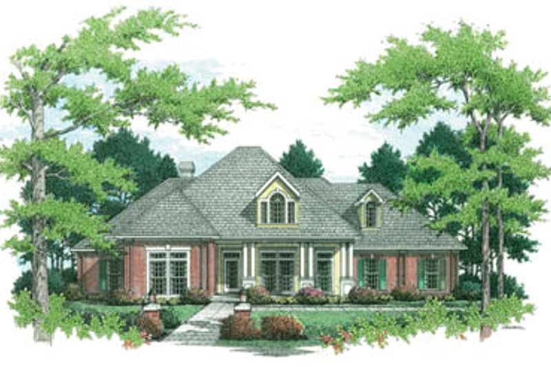 Traditional Style House Plan - 4 Beds 3.5 Baths 2682 Sq/Ft Plan #45-152 Exterior - Other Elevation