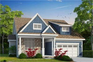 Craftsman Exterior - Front Elevation Plan #20-2200
