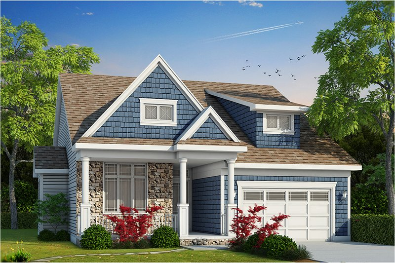 Craftsman Style House Plan - 3 Beds 2 Baths 2326 Sq/Ft Plan #20-2200 Exterior - Front Elevation