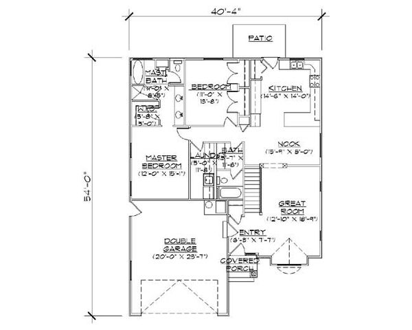 Architectural House Design - Ranch Floor Plan - Main Floor Plan #5-234