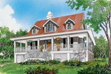 Home Plan - Country Exterior - Front Elevation Plan #929-37