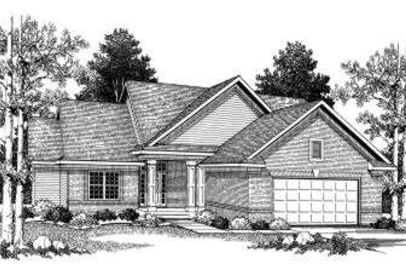 Traditional Exterior - Front Elevation Plan #70-776 - Houseplans.com