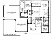 Ranch Style House Plan - 3 Beds 2.5 Baths 2267 Sq/Ft Plan #70-1495 Floor Plan - Main Floor Plan