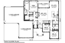 Ranch Floor Plan - Main Floor Plan Plan #70-1495