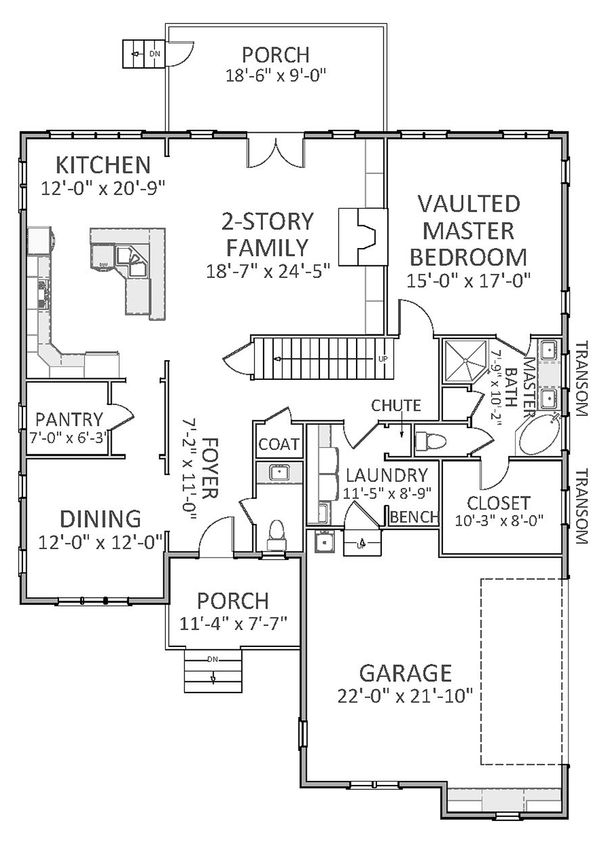 Traditional Floor Plan - Main Floor Plan Plan #898-26