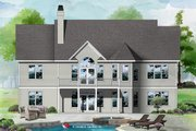 Craftsman Style House Plan - 4 Beds 3 Baths 2863 Sq/Ft Plan #929-446 Exterior - Rear Elevation