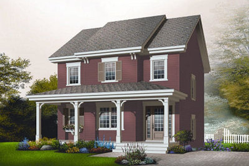 Country Exterior - Front Elevation Plan #23-743