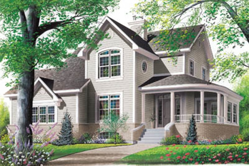 Home Plan - Country Exterior - Front Elevation Plan #23-235
