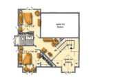Cabin Style House Plan - 5 Beds 3.1 Baths 3060 Sq/Ft Plan #942-40 Floor Plan - Upper Floor