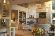 Home Plan - Great Room photo of Craftsman style home