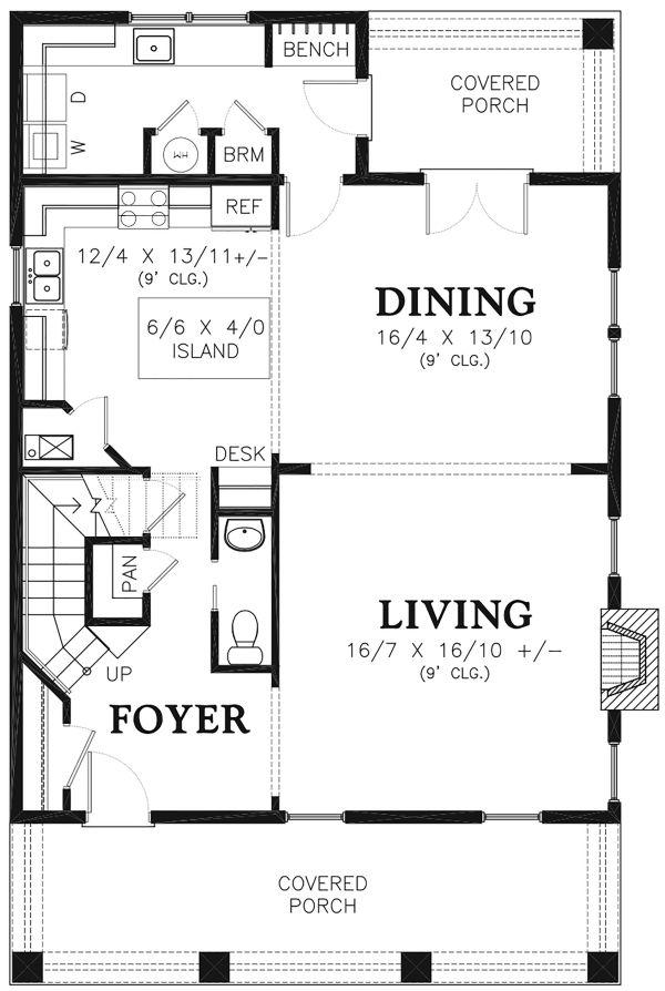 Traditional Floor Plan - Main Floor Plan Plan #48-966