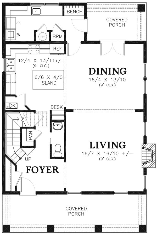 Traditional Floor Plan - Main Floor Plan Plan #48-966