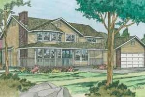 Colonial Exterior - Front Elevation Plan #126-114
