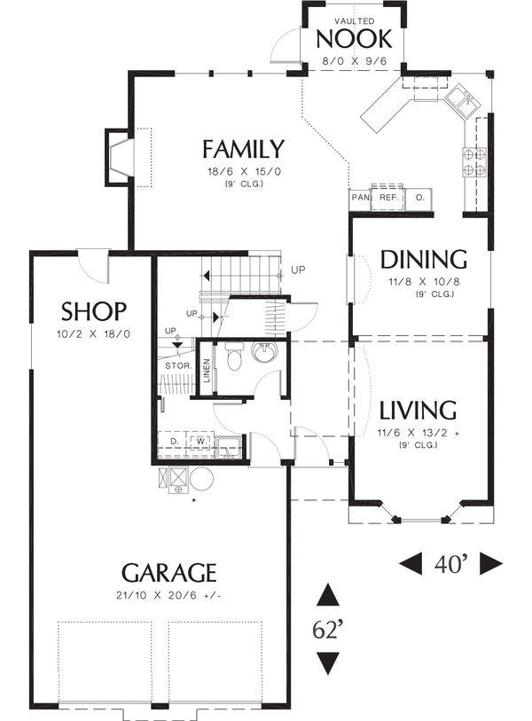 Traditional Floor Plan - Main Floor Plan Plan #48-380