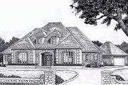European Style House Plan - 3 Beds 3 Baths 2972 Sq/Ft Plan #310-868 Exterior - Front Elevation