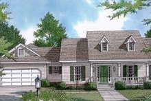 Country Exterior - Front Elevation Plan #14-110