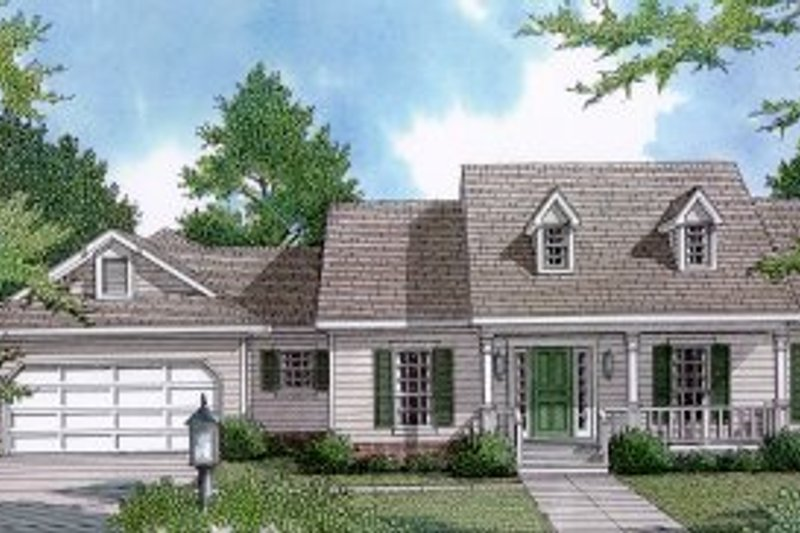House Design - Country Exterior - Front Elevation Plan #14-110